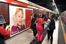 La pubblicità in metropolitana