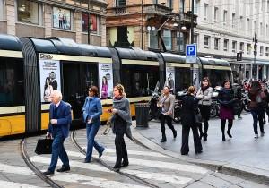 Pubblicità tram a Milano