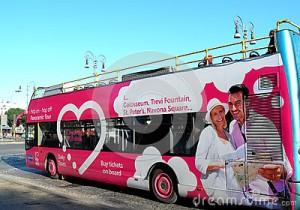 Pubblicità bus turistici roma