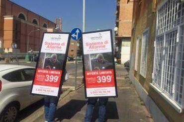 Esterna Verisure protagonista di una campagna a Roma