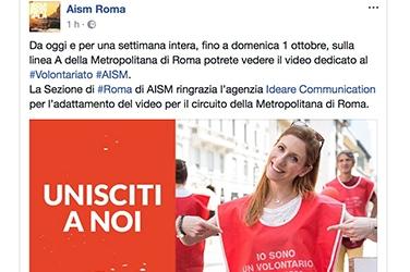 Pubblicità Roma Aism
