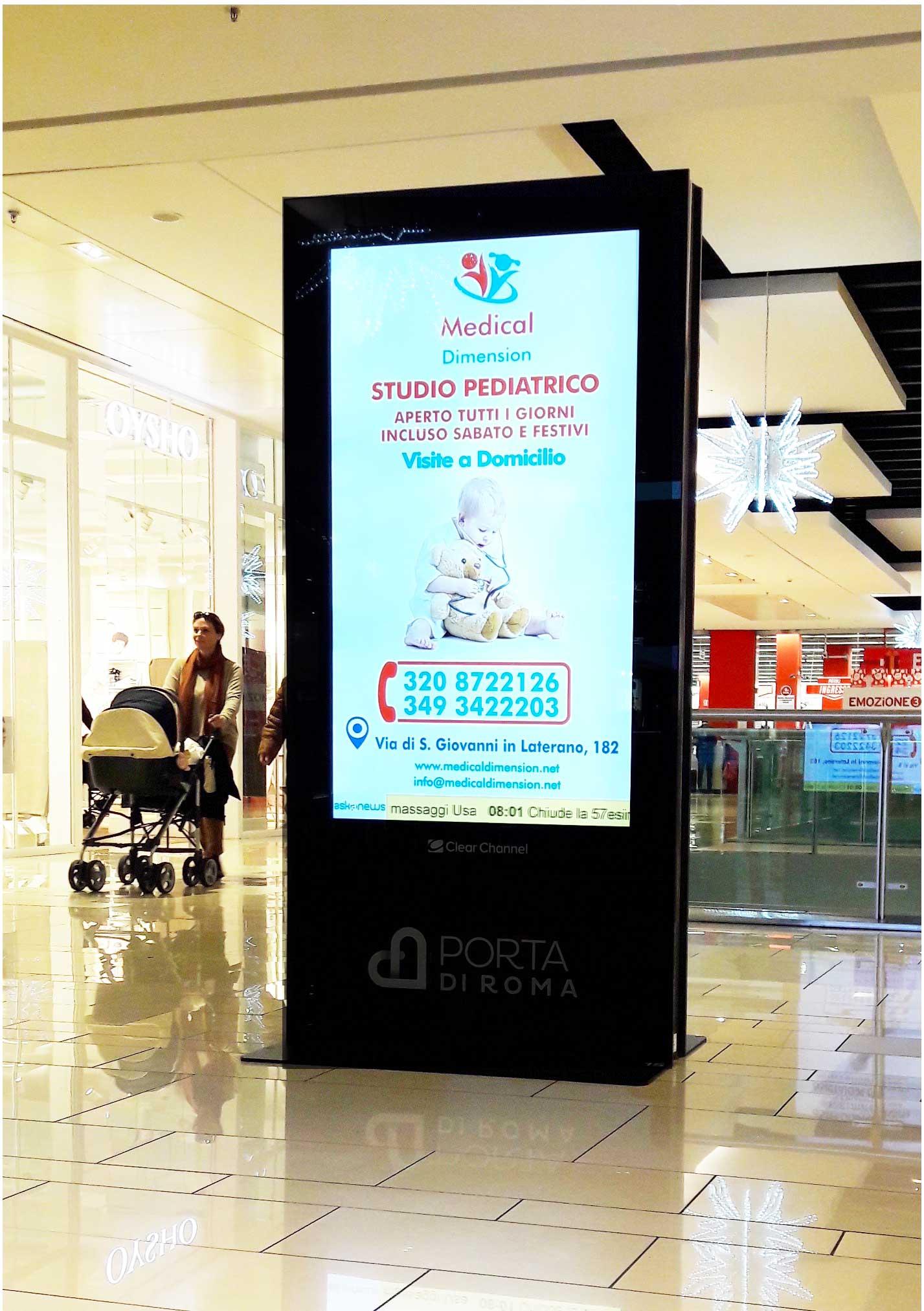 pubblicità roma digiwall